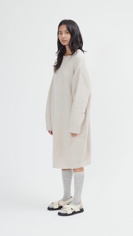 Lauren Manoogian Rib Dress - Plaster