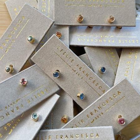 Leslie Francesca - Gold Filled Natural Sapphire Studs