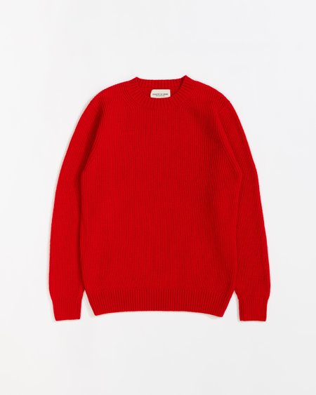 Country of Origin Ribbed Crew Sweater - Red