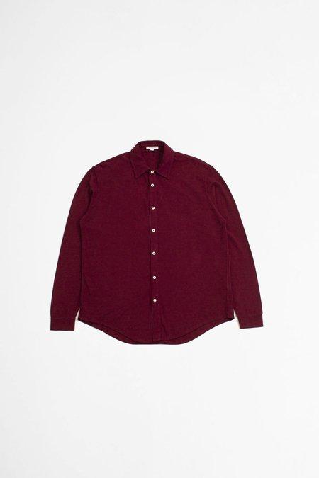 Lady White Co. Pique Button Down Shirt - Maroon