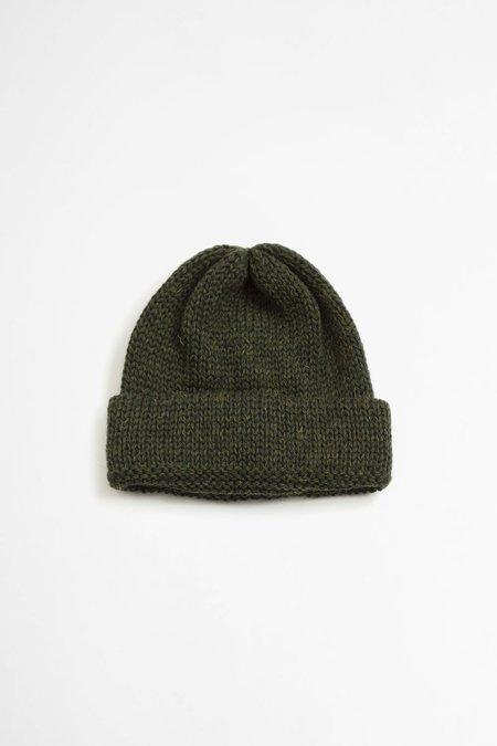 Universal Works Short watch cap - british wool forest green