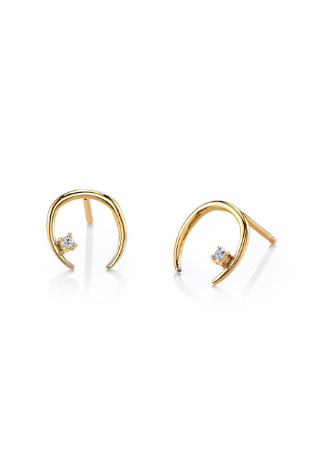 Gabriela Artigas Diamond on 14K Mini Rising Earring (Individual)