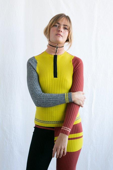 Giu Giu Decalage Nonna Polo sweater - yellow