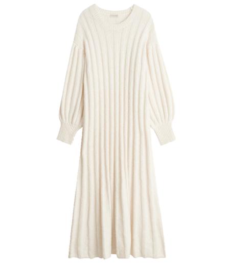 By Malene Birger Amiria Knit Dress - Whisper White