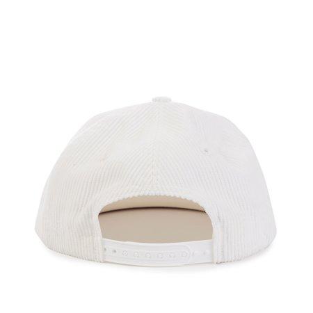 -Bossi Corduroy Rose Snapback Hat - White