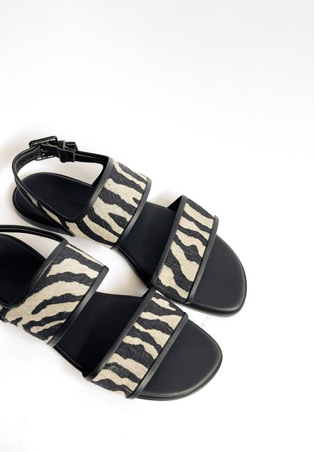 Mari Giudicelli Tapir Sandal - Eco Textile Zebra