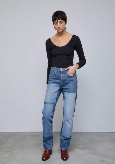 B Sides Marcel Relaxed Straight Jean - Reese Vintage/Patchwork No.3