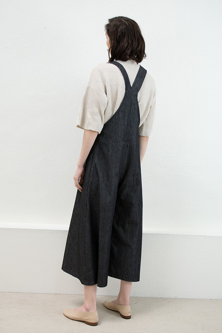Micaela Greg Black Denim Arch Overall