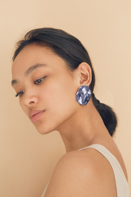 Julie Thevenot Puddle Earrings Lava
