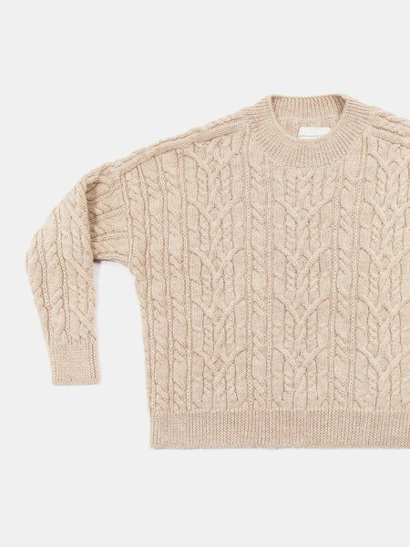 Monica Cordera Ecowool Cable Sweater - Nude