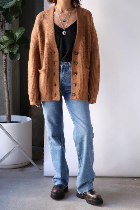 RE/DONE 90s Oversized Cardigan - Caramel