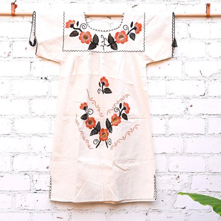 Made Solid Hand Embroidered Oaxacan Dress