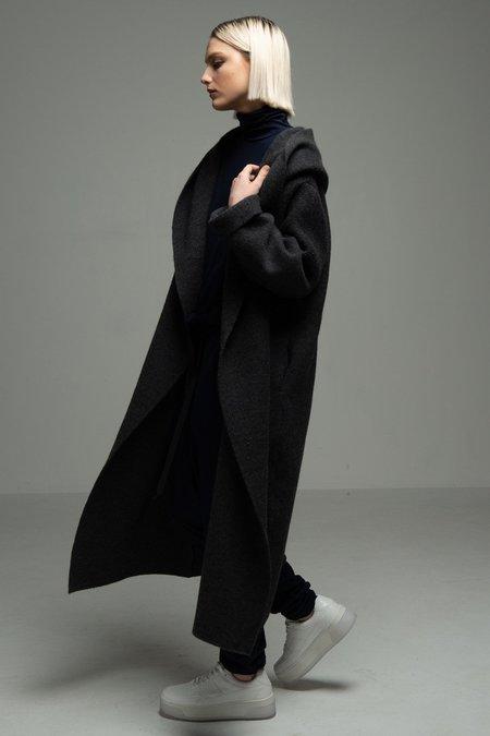 COGTHEBIGSMOKE Hoody Wrap Coat - Black