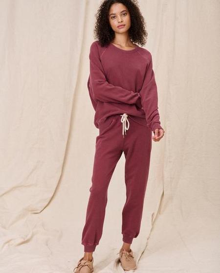 The College Sweatshirt-Pink