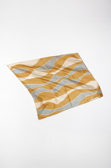 Clan of Cro VINTAGE Silk Square Scarf - Wave Print