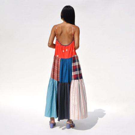 LA RÉUNION Vibrant Patchwork No. 44 Dress - multi