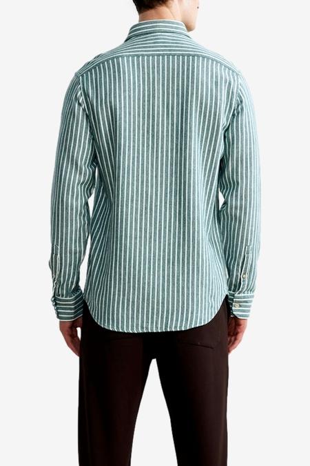 NN07 Errico 5166 Shirt - Green Stripe