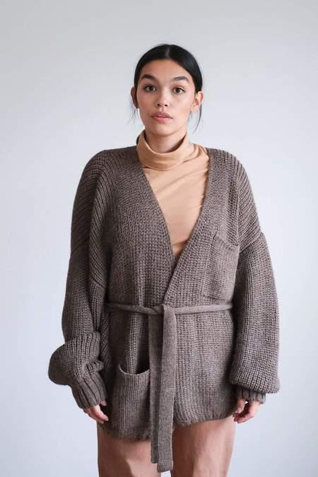 First Rite Sweater Coat - Bark