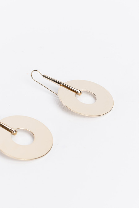 Trademark Large Disc Drop Earrings