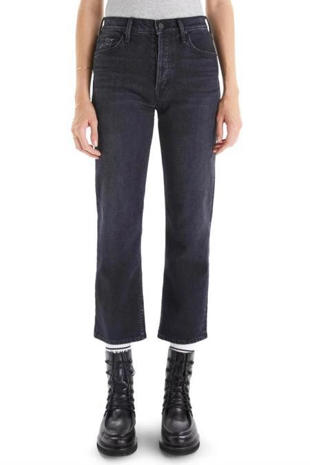 Mother Denim Black Wash Tomcat Jeans - Lies Lies Lies