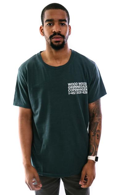 Wood Wood Slater T-Shirt - Green Gables
