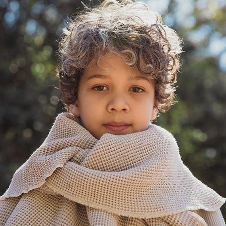 Kids Nico Nico Child Jesse Waffle Blanket - Bone Cream