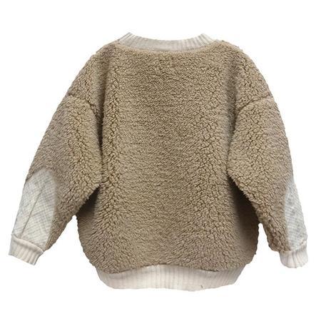 Kids Nico Nico Child Lazer Sherpa Sweatshirt - Camel Brown