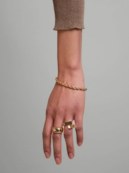OUTOFOFFICE Hollyhock Rope Bracelet - Gold