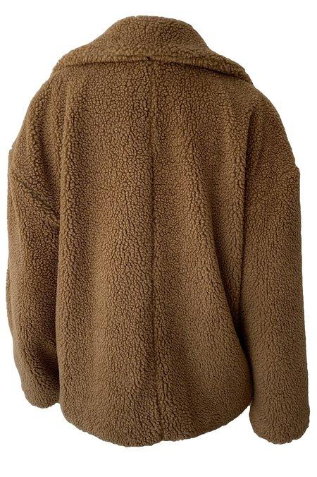 Emerson Fry Shorty Teddy Coat - Camel