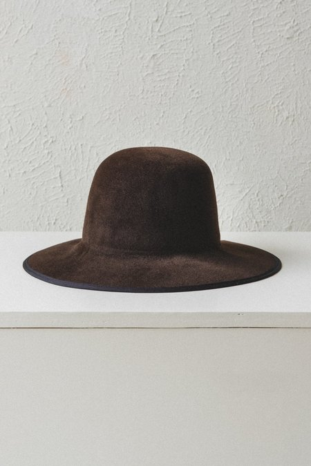Brookes Boswell Velour Felt Violetto Hat - Gold Suede
