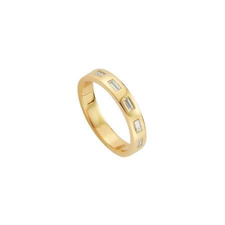 Mod + Jo Quin White Topaz Stacking Ring - Gold