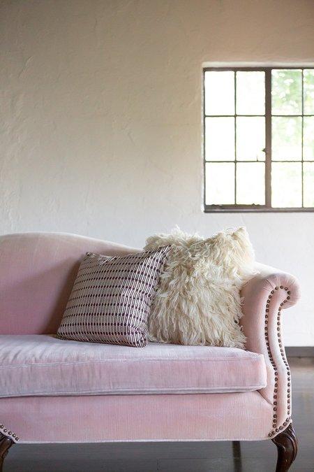 Erica Tanov jacobsen throw pillow - natural/prune