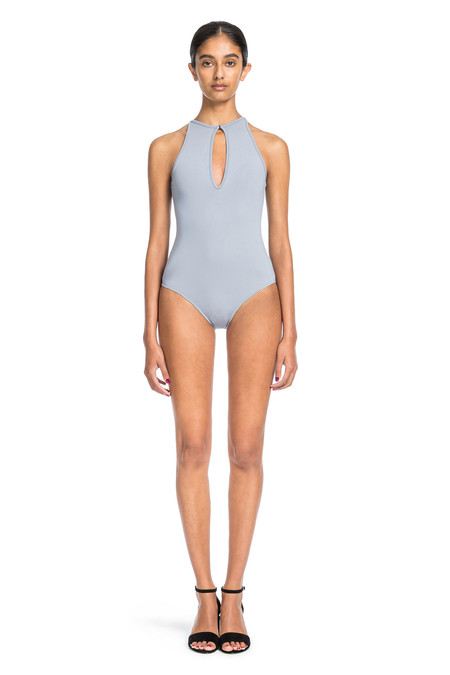 Beth Richards Belle One Piece-Smoke One Pc With Front Keyhole Opening