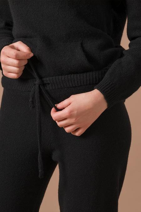 rifo recycled cashmere pants - black