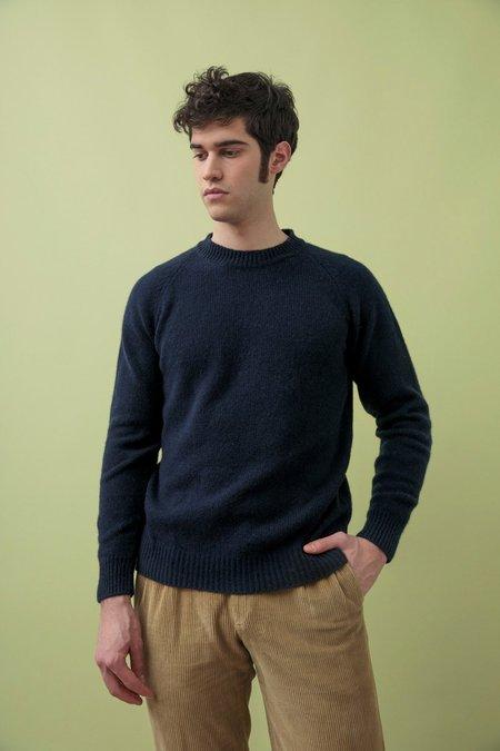 rifo recycled cashmere dante sweater - blue mora