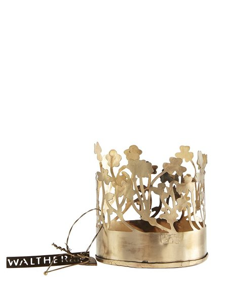 Walther & Co Small Wild Flower Hurricane decor - gold