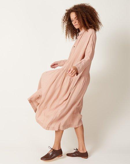 ICHI ANTIQUITES Color Linen Dress - Coral Pink