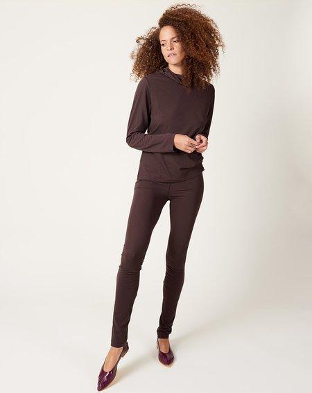 ICHI ANTIQUITES Cotton Tencel Leggings - Dark Brown