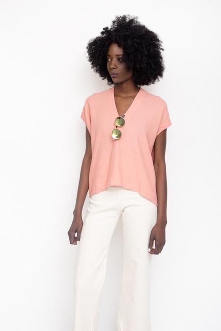 Atelier Delphine Celeste Top / Peach Linen