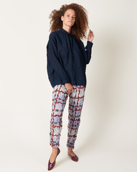ICHI ANTIQUITES Linen Shirt - Doro Indigo