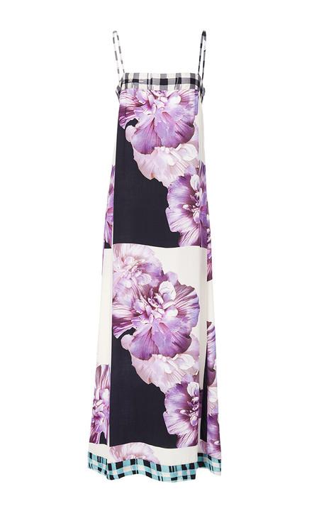 Warm Hothouse Sleeveless Maxi Dress - Multi Graphic