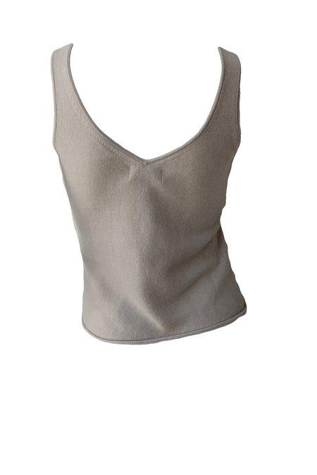 Naadam Cashmere V-Neck Tank - Frost Gray