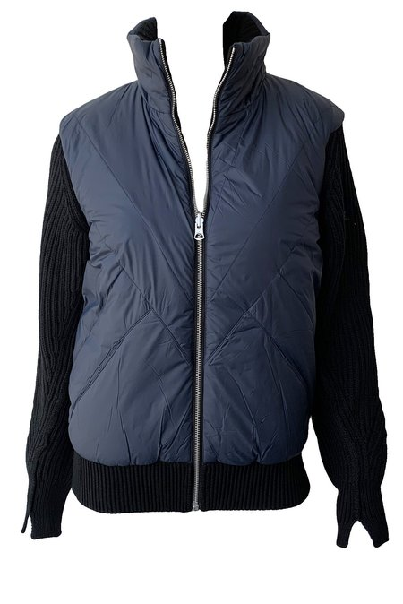 Rag & Bone Mikaela Zip Up Puffer Jacket - Black/Navy