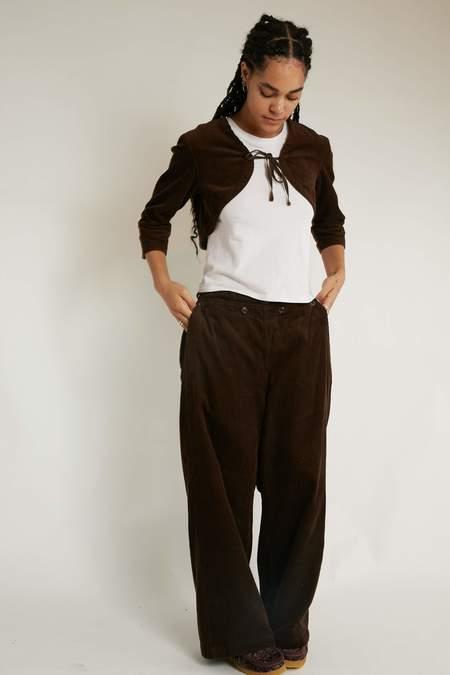 Engineered Garments Women's Sailor Pant - Brown Cotton 8W Corduroy