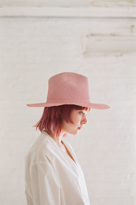 Reinhard Plank Laila Open Straw Hat in Rose