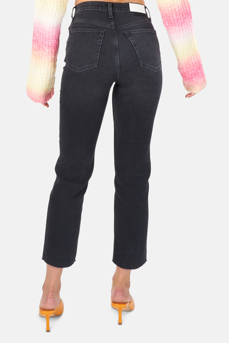 Re/Done 70s Stove Pipe Pants - Washed Noir