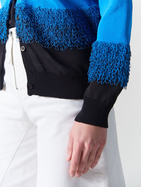 Peter Jensen Looped Crew Neck Cardigan