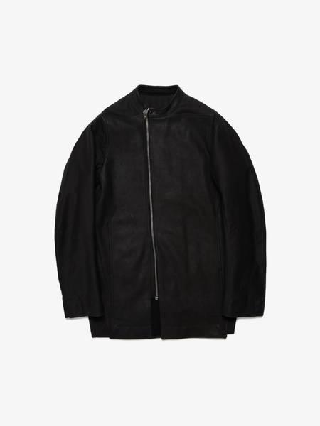 PRE-LOVED Rick Owens Elongated  Leather Bomber Jacket - black