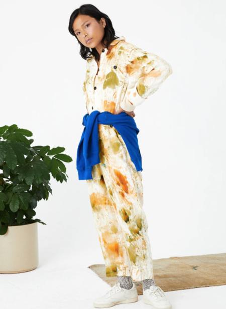 Back Beat Co. Linen Utility Jumpsuit - Splatter