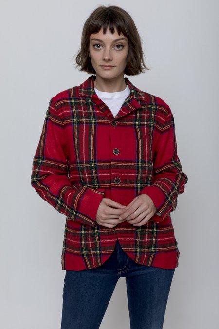 ICHI ANTIQUITES Wool Gauze Tartan Jacket - One Size